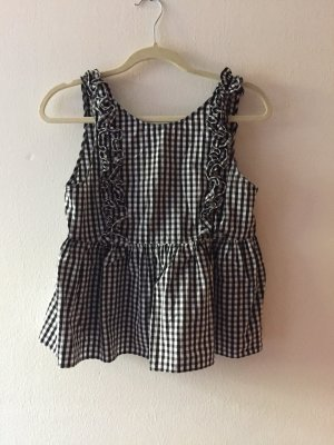 Zara Frill Top black-white