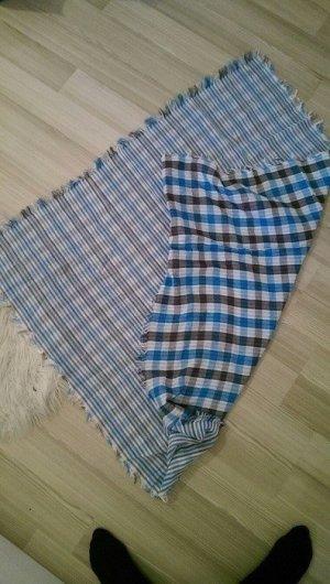 kariertes und gestreiftes Tuch von Tom Tailor blau