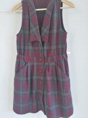 Vestito di lana rosso scuro-antracite Lana