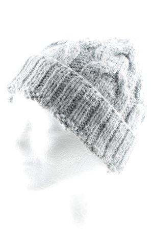 Karinfraidenraij Chapeau en tricot gris style athlétique