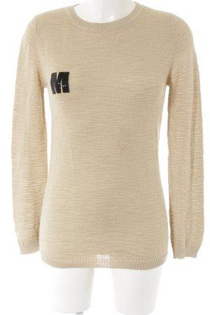 Karinfraidenraij T-shirts en mailles tricotées beige-noir style décontracté