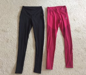 Leggings black-pink