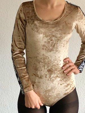 Karl Kani Shirtbody zwart-zandig bruin