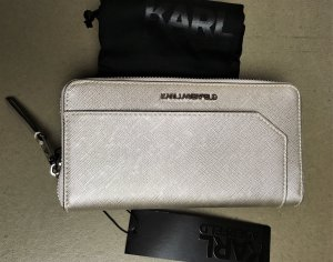 Karl Lagerfeld Wallet silver-colored polyurethane