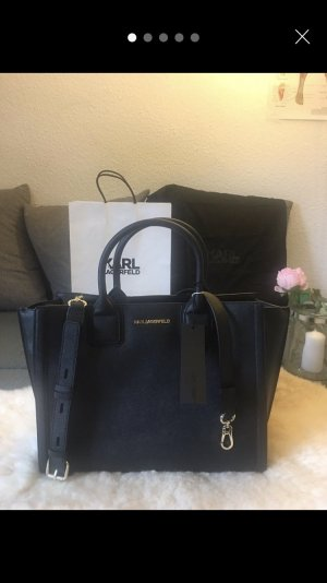 Karl Lagerfeld Laptop bag black-gold-colored