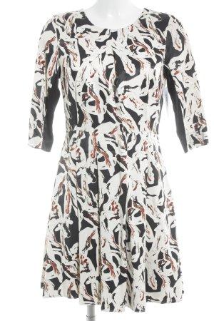 Karl Lagerfeld A-Linien Kleid abstraktes Muster klassischer Stil