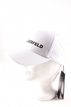 Karl Lagerfeld Baseball Cap white-black athletic style