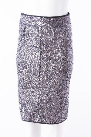 KARL LAGERFELD - Bleistiftrock mit Pailettenbesatz Silber