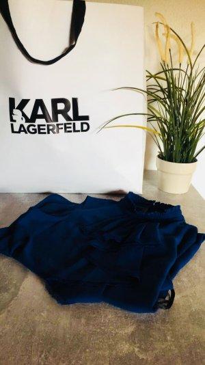 Karl Lagerfeld Camicetta con arricciature blu scuro