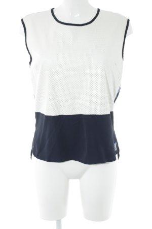Karl Lagerfeld Blusentop blau-weiß Casual-Look