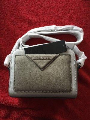 Karl Lagerfeld Camera Bag Umhängetasche Silber