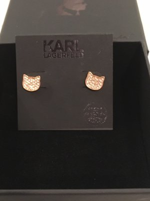 Karl Lagerfeld Zarcillo color rosa dorado