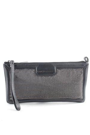 Karl Lagerfeld Clutch schwarz-silberfarben Metallic-Optik