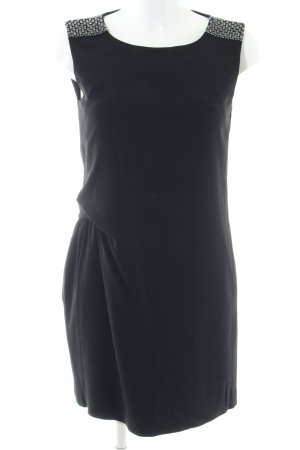 Karl Lagerfeld Cocktailkleid schwarz Glanz-Optik