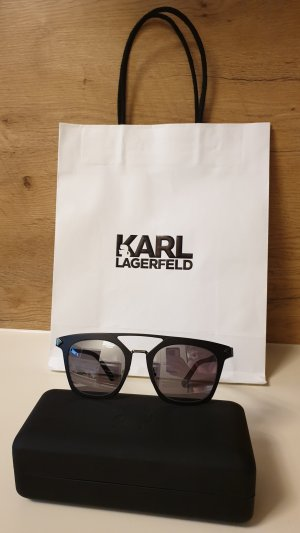 Karl Lagerfeld Hoekige zonnebril zwart