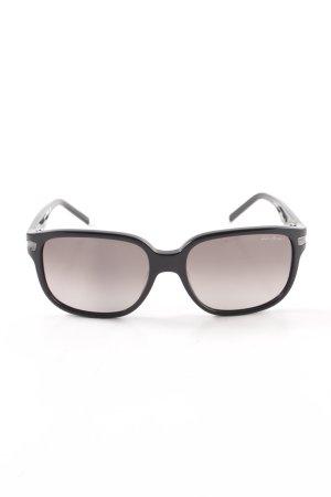 Karl Lagerfeld eckige Sonnenbrille schwarz Business-Look