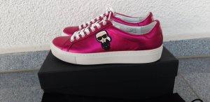 Karl Lagerfeld Basket rose cuir