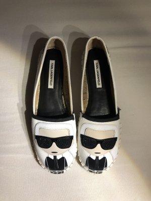 Karl Lagerfeld Alpargatas blanco-negro