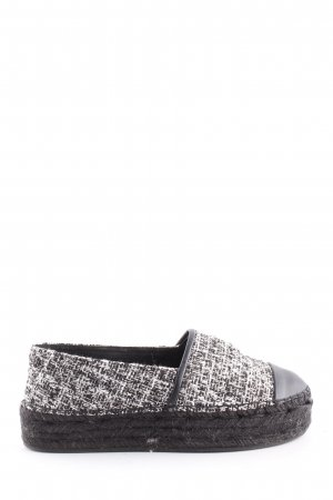 Karl Lagerfeld Espadrille Sandals black-white flecked casual look