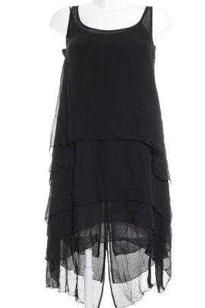 Karl Lagerfeld for H&M Chiffonkleid schwarz klassischer Stil