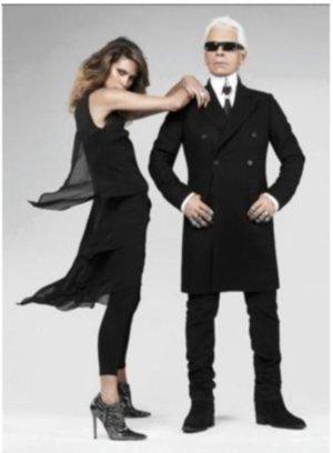 Karl Lagerfeld for H&M Kleid Layering Dress 36 schwarz Little Black dress Seide Seidenkleid
