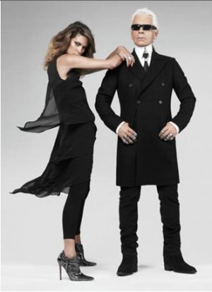 Karl Lagerfeld for H&M Kleid Layering Dress 38 schwarz Little Black dress Seide Seidenkleid