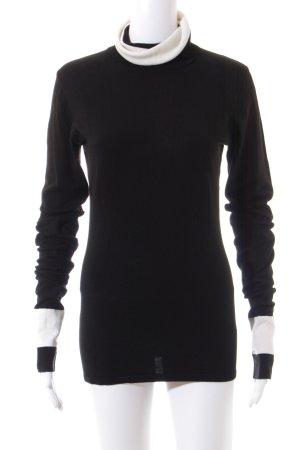 Karl Lagerfeld for H&M Rollkragenpullover schwarz-weiß klassischer Stil