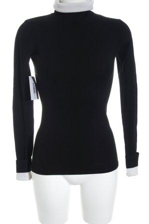 Karl Lagerfeld for H&M Strickpullover schwarz-weiß Ringelmuster