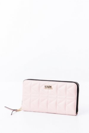 Karl Lagerfeld Portefeuille rose cuir