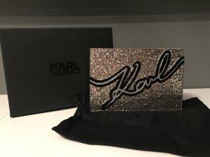 Karl Lagerfeld Glitter Clutch