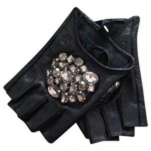 Karl Lagerfeld Glitzer Handschuhe fingerless