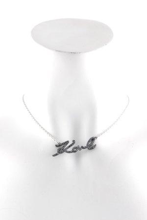 Karl Lagerfeld Collier argenté-noir élégant