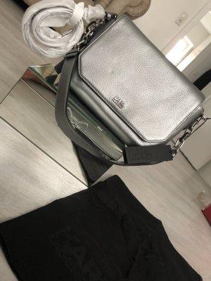 Karl Lagerfeld Hand/Schultertasche Silber mit Logo