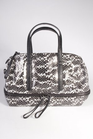 Karl Lagerfeld Handtasche Bowletto Bag Leather Black and White Pattern