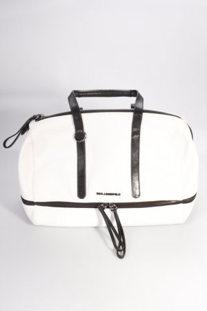 Karl Lagerfeld Handtasche Bowletto Bag Mini Leather White/Black