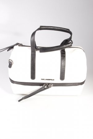 Karl Lagerfeld Handtasche Bowletto Bag Mini Leather White/Black II