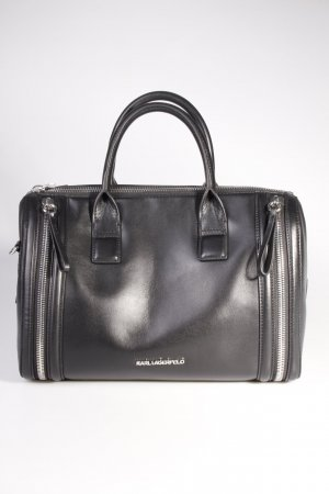 Karl Lagerfeld Handtasche Karl Zip Medium Bauletto Black III