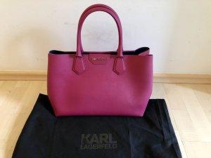 Karl Lagerfeld Handtasche pink Saffiano Leder Top Tasche Shopper