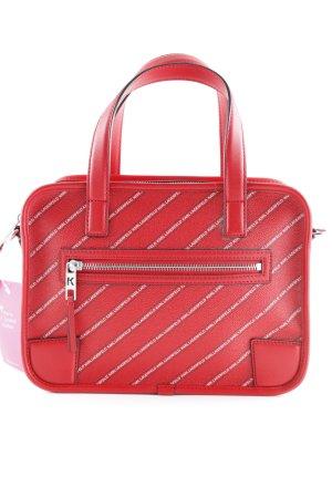 Karl Lagerfeld Handtasche rot-weiß Street-Fashion-Look
