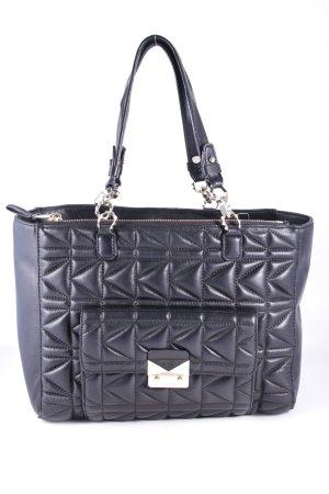 Karl Lagerfeld Handtasche schwarz Steppmuster Street-Fashion-Look