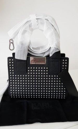 Karl Lagerfeld Handtas zwart-zilver