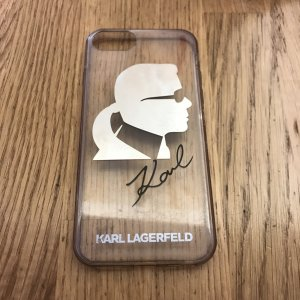 Karl Lagerfeld Mobile Phone Case black-silver-colored