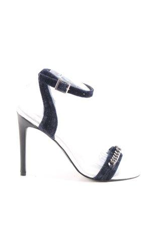 Karl Lagerfeld High Heel Sandaletten dunkelblau-silberfarben Elegant