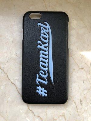 Karl Lagerfeld Hoesje voor mobiele telefoons zwart-azuur Polyurethaan