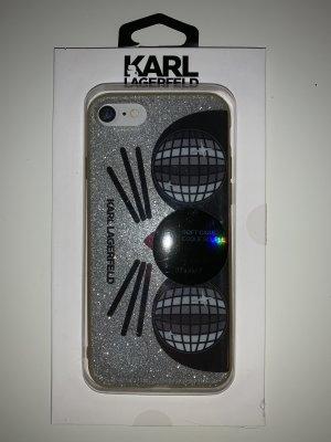 Karl Lagerfeld Carcasa para teléfono móvil color plata-negro