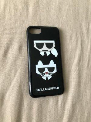 Karl Lagerfeld Hoesje voor mobiele telefoons zwart-wit
