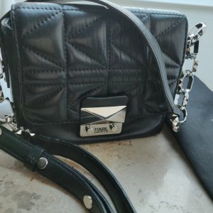 Karl Lagerfeld K/ Kuilted Crossbody mini bag Leder schwarz