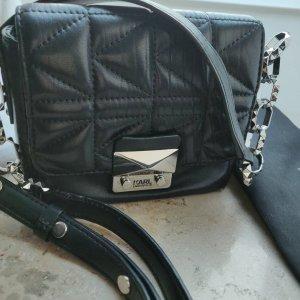 Karl Lagerfeld K/ Kuilted Crossbody mini bag Leder schwarz