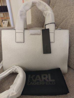 Karl Lagerfeld K/Mau Crossbody Tasche Handtasche silber SchuLtertasche Umhänhetasche