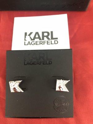 Karl Lagerfeld Orecchino a vite argento